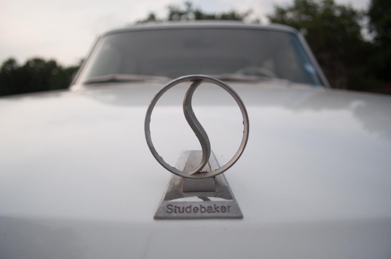 Classic car hood ornament.