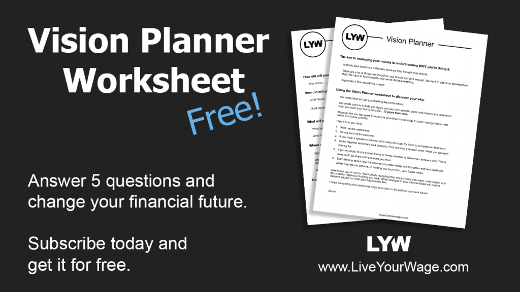 Vision Planner Worksheet Promotional Image