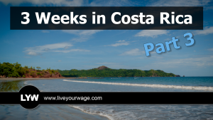 Featured image of a long beach in Costa Rica.