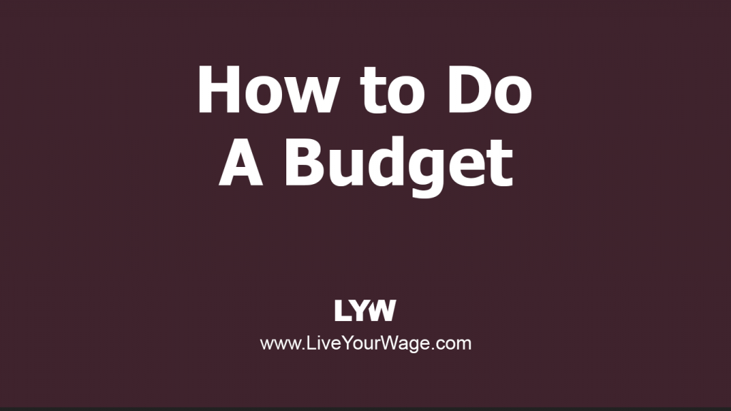 Title Image: How to Do a Budget