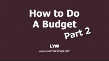 How to Do a Budget - Part 2