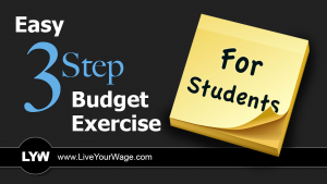 Easy 3 Step Budget Exercise for Students
